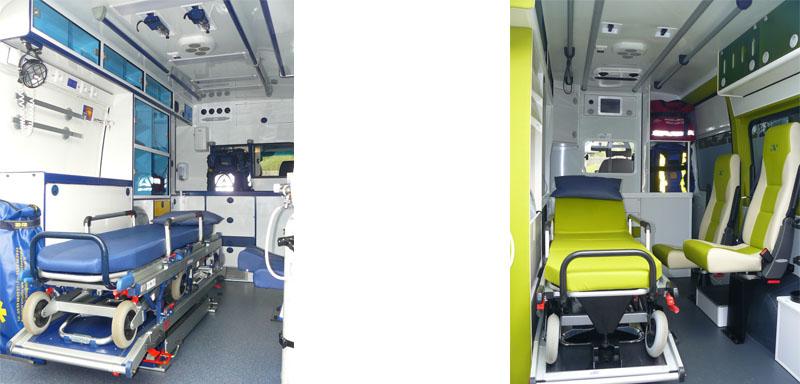 Des véhicules médicalisés et un transport en toute sécurité