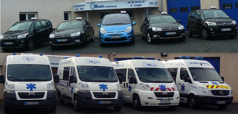 Une flotte d'ambulances et taxis …