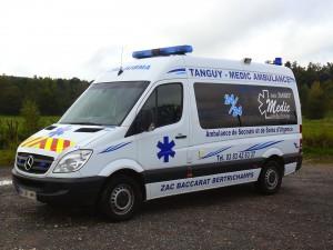 transports ambulance de secours et de soins d'urgence